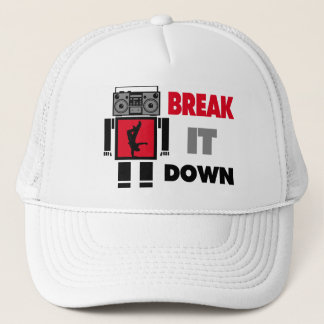 B-Junge Boombox Roboter-Bruch es unten Truckerkappe