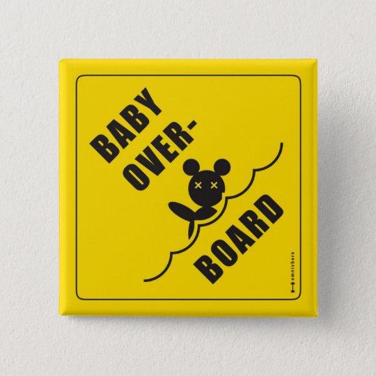 B.O.B. Teddybär Quadratischer Button 5,1 Cm