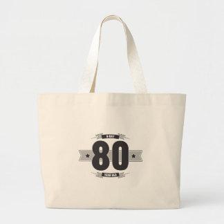 B-tägige 80 (Dark&Lightgrey) Jumbo Stoffbeutel