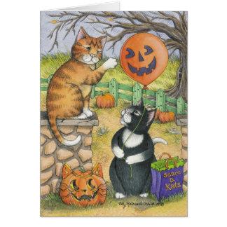 B u. Anmerkung T #34 Halloween Mitteilungskarte