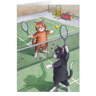 B u. Tennis-Geburtstags-Anmerkung T #56 Karte