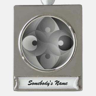 B/W Balance Banner-Ornament Silber