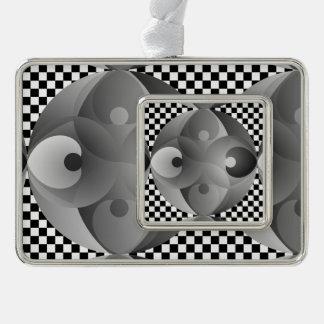 B/W Balance Rahmen-Ornament Silber