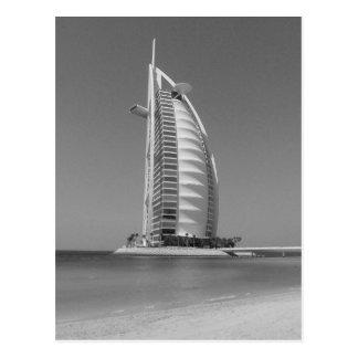 B&W Burj Al-Araber Postkarte