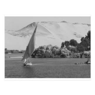 B&W der Nil Postkarte