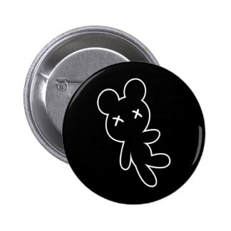 B&W kleiner toter Teddybär Runder Button 5,1 Cm