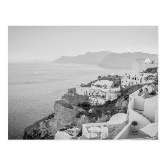 B&W Santorini Postkarte