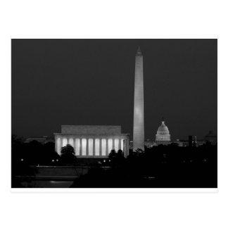 B&W Washington DC 3 Postkarte