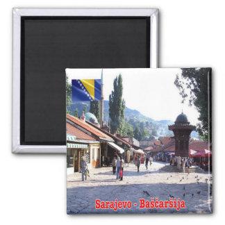 BA - Bosnien und Herzegowina - Sarajevo Bašcaršija Quadratischer Magnet