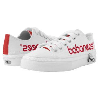 Babanees Logo Zipz niedrige Spitzenschuhe Niedrig-geschnittene Sneaker