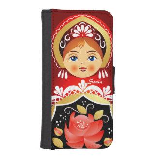 Babushka Matryoshka Russe-Puppe I Phone 5 Portmonees