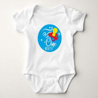 Baby-1-monatige Meilenstein-Weste Baby Strampler