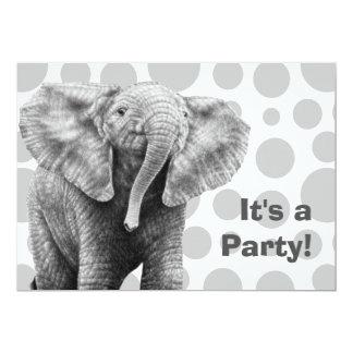 Baby-afrikanischer Elefant beschmutzt Party Karte
