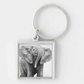 Baby-afrikanischer Elefant Keychain Schlüsselanhänger