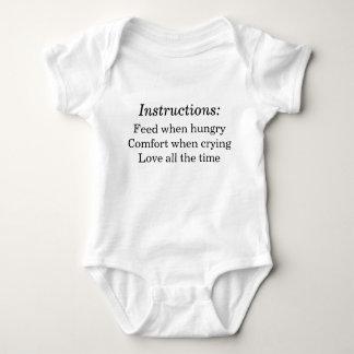 Baby-Anweisungen Babybody