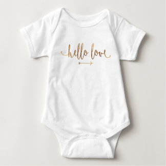 BABY-AUSSTATTUNG ONSIE | Boho Goldpfeil-modernes Baby Strampler