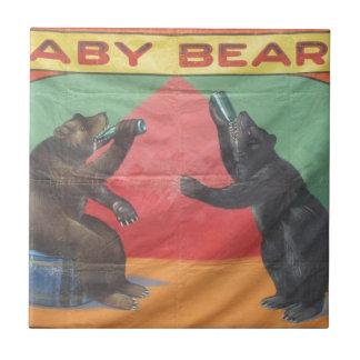 Baby-Bären Keramikfliese
