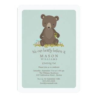 Baby-Bärenjungstierthema-Geburtstags-Party Karte