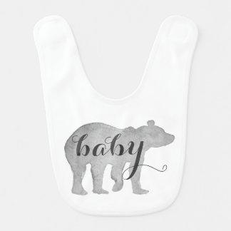 Baby-Bärn-Aquarell-Schellfisch Babylätzchen