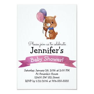 Baby-Bärn-Baby DUSCHE Party Einladung