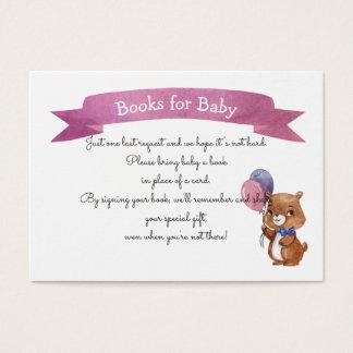 Baby-Bärn-Babyparty BUCH-ANTRAG Visitenkarte