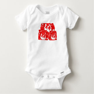 Baby-Baumwolle mag den grundlegenden weißen T - Baby Strampler