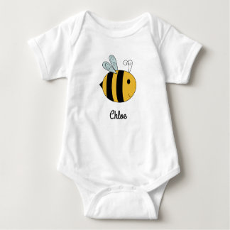 """""""Baby-Bienen-"""" Baby-Shirt Baby Strampler"""