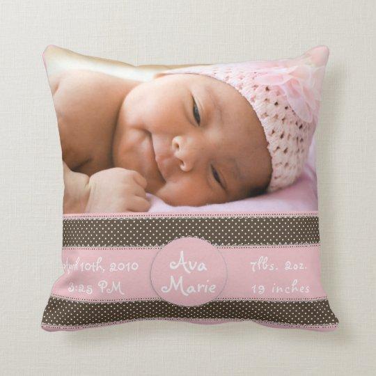 baby bild kissen mitteilung zierkissen zazzle. Black Bedroom Furniture Sets. Home Design Ideas