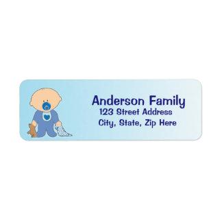 Baby Blankie blaues Adressen-Etikett Kleiner Adressaufkleber