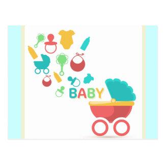 Baby-Blau-Dusche laden ein Postkarte