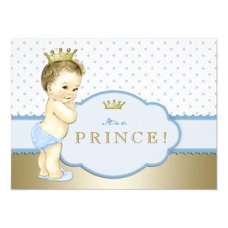 Baby-Blau-kleiner Prinz Babyparty 14 X 19,5 Cm Einladungskarte