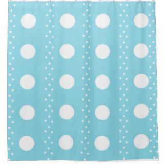 Baby-Blau-Punkte Duschvorhang