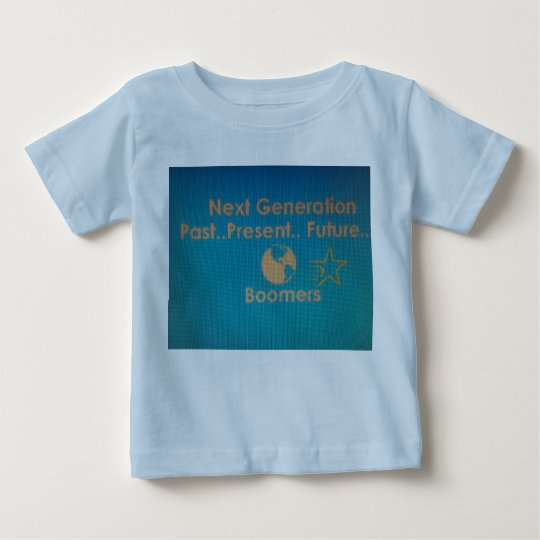 Baby-Blau-T-Stück mit aquamarinem Logo Baby T-shirt