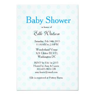Baby-Blau-Tupfen-Babyparty-Einladungen 12,7 X 17,8 Cm Einladungskarte