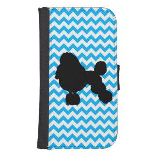 Baby-Blau Zickzack mit Pudel Galaxy S4 Portmonnaie