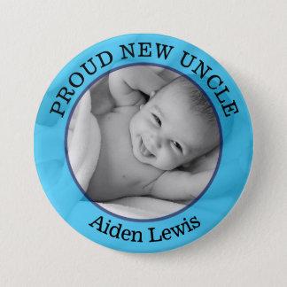 Baby-blauer stolzer neuer Onkel Button
