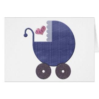 Baby-Blaupram-Kunst Karte