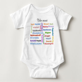 Baby-Bodysuit der folgende große Musik-Komponist Tshirt