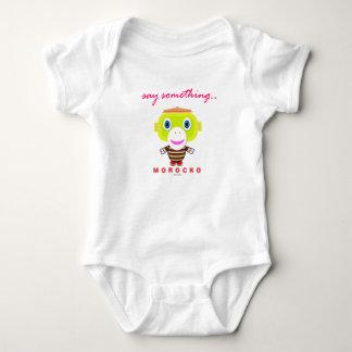 Baby-Bodysuit    sagen etwas durch Morocko Baby Strampler