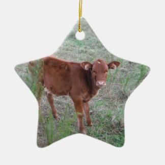 Baby-Brown-Kuh. Keramik Stern-Ornament