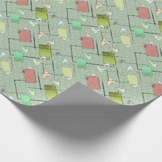 Baby-Bumerangs im Grün Geschenkpapier