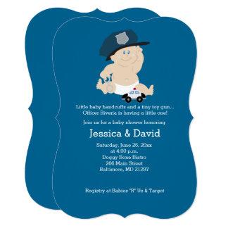 Baby Cop Police Officer Baby Shower Invitation Karte
