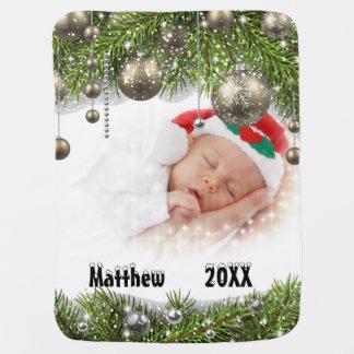 Baby-Decke des Babys erste Weihnachts Kinderwagendecke