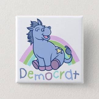 Baby-Demokrat-Esel Quadratischer Button 5,1 Cm