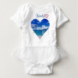 Baby| des Tutu-| Herz Körper-Anzugs-| des Ozean-| Baby Strampler