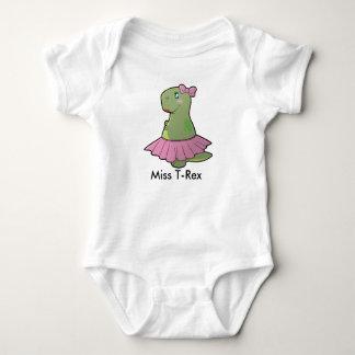 Baby-Dinosaurier-Fräulein T-Rex Bodysuit Baby Strampler