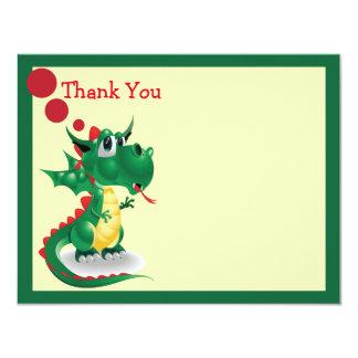 Baby-Drache danken Ihnen zu kardieren 10,8 X 14 Cm Einladungskarte