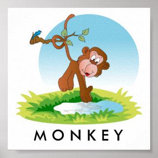 Baby-Dschungel-Affe Poster