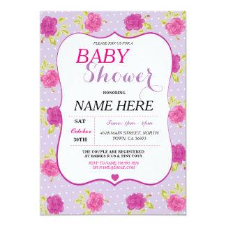 Baby-Dusche ist es ein Mädchen-Party, das lila Karte