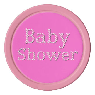 Baby-Dusche, Poker bricht, Rosa/Weiß ab Pokerchips